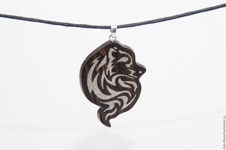 Wooden wolf pendant, Pendants, Vladimir,  Фото №1