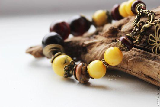 Браслеты ручной работы. Ярмарка Мастеров - ручная работа. Купить Желтые тюльпаны  -браслет. Handmade. Небо, лесная сказка, солнце