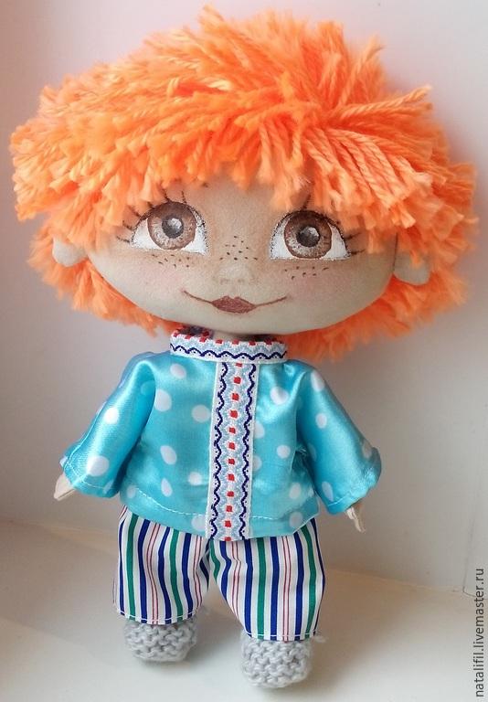 Коллекционные куклы ручной работы. Ярмарка Мастеров - ручная работа. Купить Текстильная кукла мальчик домовенок. Handmade. Подарок, разноцветный