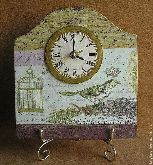 """Часы для дома ручной работы. Ярмарка Мастеров - ручная работа. Купить Часы """"Королевская птичка. Lizzy"""". Handmade. Настольные часы"""