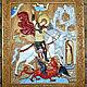 """Иконы ручной работы. Ярмарка Мастеров - ручная работа. Купить Икона """"Святой Георгий Победоносец""""2. Handmade. Комбинированный, дерево, бук"""