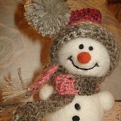 Подарки к праздникам handmade. Livemaster - original item Snowman in hat. Handmade.