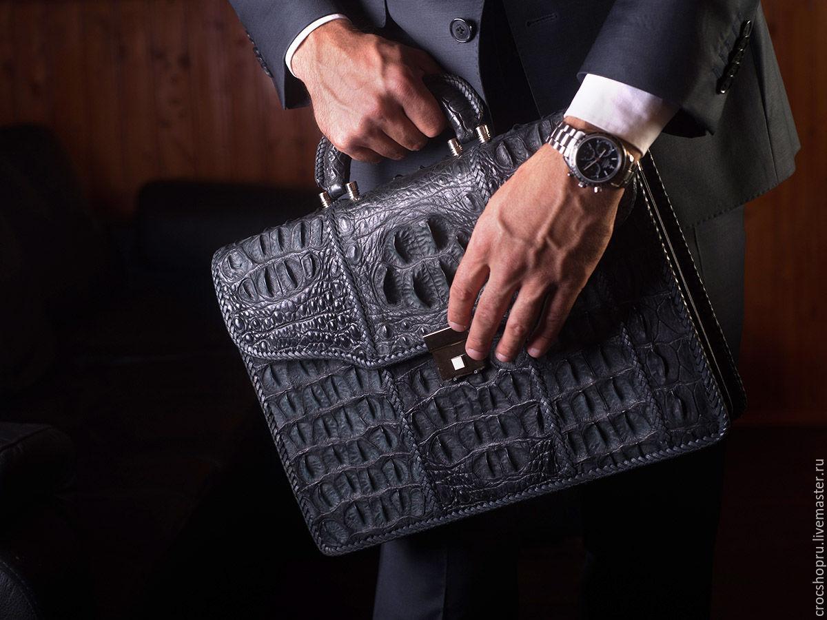 Мужские сумки ручной работы. Ярмарка Мастеров - ручная работа. Купить Портфель из натуральной кожи сиамского в оплетке. Handmade.