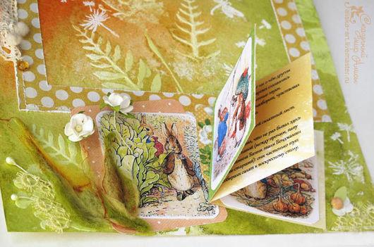 Персональные подарки ручной работы. Ярмарка Мастеров - ручная работа. Купить Детский фотоальбом по мотивам сказок Беатрис Поттер о кролике Питере. Handmade.