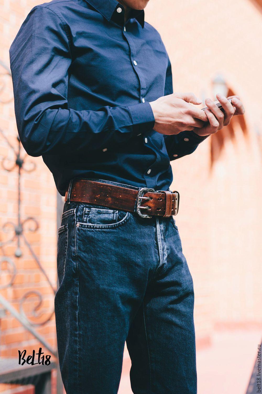 Мужские джинсы и ремень купить ремень с пряжкой мужской кожаный в спб