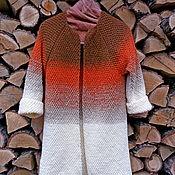 Одежда ручной работы. Ярмарка Мастеров - ручная работа Кардиган спицами с переходом цвета Осень. Handmade.
