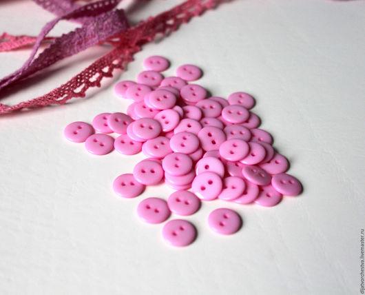 Шитье ручной работы. Ярмарка Мастеров - ручная работа. Купить Пуговицы 11 мм. Handmade. Розовый, пластмассовые пуговицы, пластик