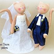 """Свадебный салон ручной работы. Ярмарка Мастеров - ручная работа Куклы """"Парочка свадебных котиков"""". Handmade."""