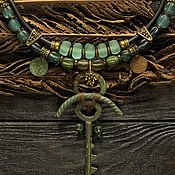 """Колье ручной работы. Ярмарка Мастеров - ручная работа Колье """"Ключ от тайны-4"""" (винтаж, этно, бохо). Handmade."""
