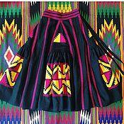 Одежда ручной работы. Ярмарка Мастеров - ручная работа Юбка женская с вышивкой, 4 клина,бохо, этно стиль  Vita Kin,Bohemian. Handmade.