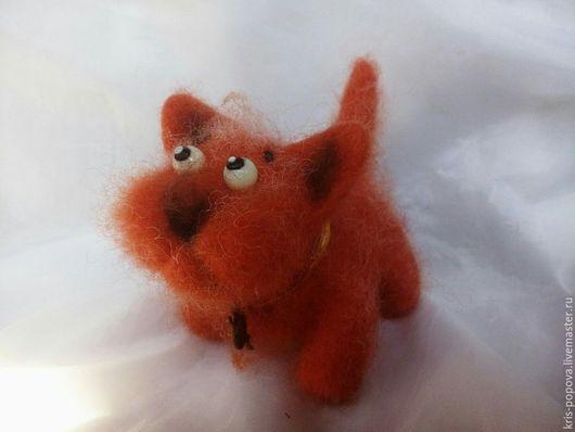 Игрушки животные, ручной работы. Ярмарка Мастеров - ручная работа. Купить Валяная игрушка Кот Мандаринчик. Handmade. Рыжий