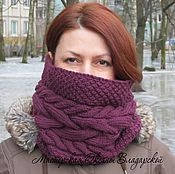 Аксессуары handmade. Livemaster - original item Knitted Snood, scarf, pipe
