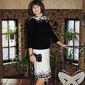 """Одежда ручной работы. Ярмарка Мастеров - ручная работа Костюм авторский """"Черно-белая классика"""". Handmade."""