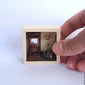 Куклы и игрушки handmade. Livemaster - original item A roombox-entrance hall, 1:48 (custom). Handmade.