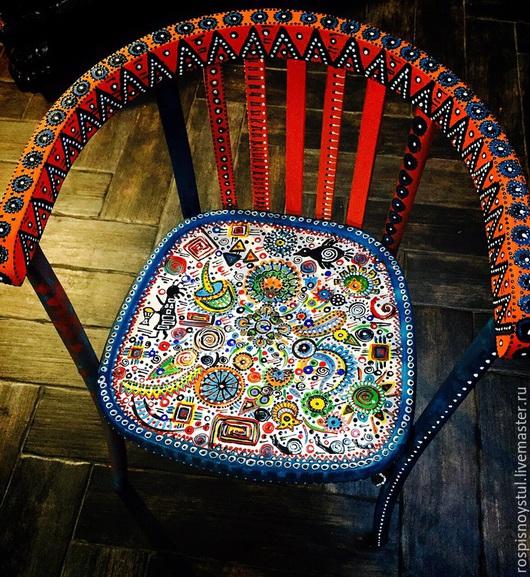 Мебель ручной работы. Ярмарка Мастеров - ручная работа. Купить Немного этнический). Handmade. Рыжий, из дерева, ручная роспись