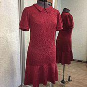 Одежда ручной работы. Ярмарка Мастеров - ручная работа Платье с воротничком и воланом. Handmade.