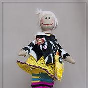 Куклы и игрушки ручной работы. Ярмарка Мастеров - ручная работа Чудачка Бьянка с козодругом. Handmade.