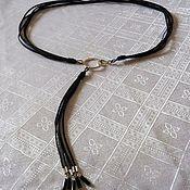 Аксессуары handmade. Livemaster - original item Leather belt with natural stones. Handmade.