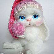 Куклы и игрушки ручной работы. Ярмарка Мастеров - ручная работа Белая зайка, повтор, валяная игрушка. Handmade.