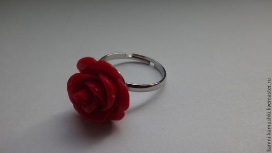 Кольца ручной работы. Ярмарка Мастеров - ручная работа. Купить Кольцо Роза из коралла. Handmade. Ярко-красный, красный коралл