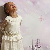 """Работы для детей, ручной работы. Ярмарка Мастеров - ручная работа Платье для девочки """"Любимый праздник"""". Handmade."""