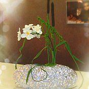 """Для дома и интерьера ручной работы. Ярмарка Мастеров - ручная работа Интерьерная композиция. """"Орхидея в камышах"""". Handmade."""