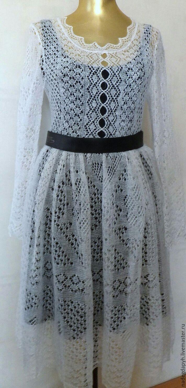 Купить Платье Белое Вязаное Платье