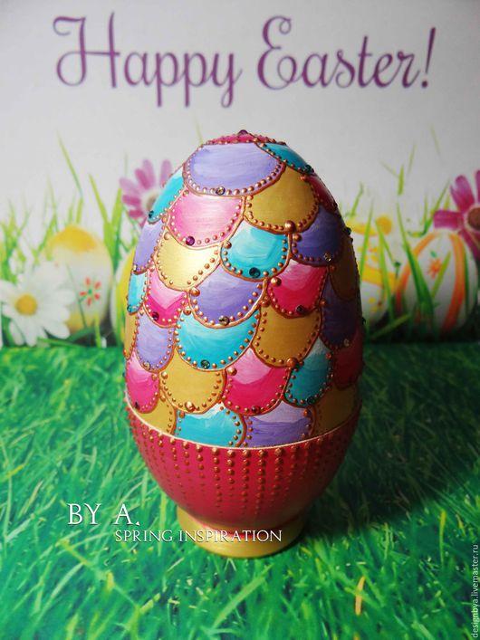 Шкатулки ручной работы. Ярмарка Мастеров - ручная работа. Купить Декоративное яйцо пасхальное яйцо шкатулка в форме яйца. Handmade.