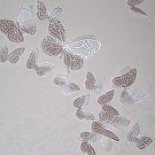 Для дома и интерьера ручной работы. Ярмарка Мастеров - ручная работа Бабочки из органзы декоративные. Handmade.