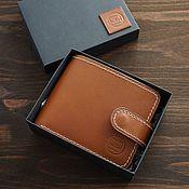 Сумки и аксессуары handmade. Livemaster - original item Men`s Whiskey wallet buttero Italy coin holder on a strap. Handmade.