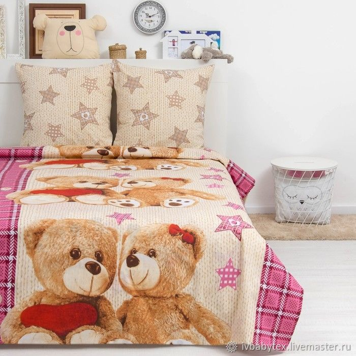 Cotton bed linen for children, Bedding sets, Ivanovo,  Фото №1