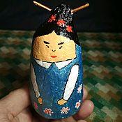 """Статуэтки ручной работы. Ярмарка Мастеров - ручная работа Фигурка """"Японская матрёшка"""". Handmade."""