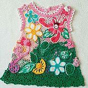 """Платья ручной работы. Ярмарка Мастеров - ручная работа Платье крючком для девочки ,,Лесная фея"""". Handmade."""