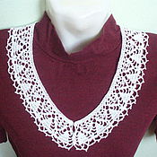 Collars handmade. Livemaster - original item Lace collar No. №2. Handmade.