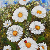 Картины и панно handmade. Livemaster - original item The flowers  Camomiles Original oil painting. Handmade.