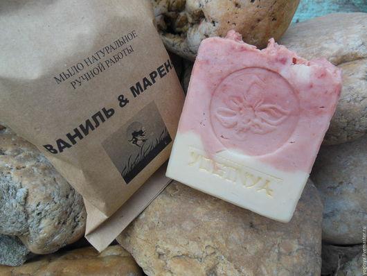 Мыло ручной работы. Ярмарка Мастеров - ручная работа. Купить Мыло натуральное ручной работы «ВАНИЛЬ & МАРЕНА». Handmade.