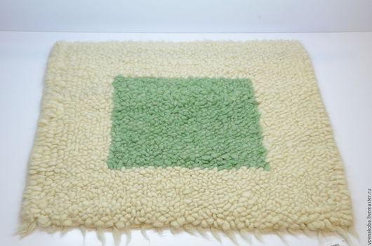 Текстиль, ковры ручной работы. Ярмарка Мастеров - ручная работа. Купить Коврик из овечьей шерсти KB026m. Handmade. комбинированный