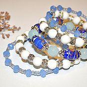 Украшения handmade. Livemaster - original item Bracelet of five rows of