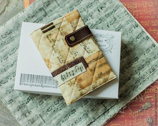 """Обложки ручной работы. Ярмарка Мастеров - ручная работа. Купить обложка на паспорт """"  Вечная музыка """". Handmade."""