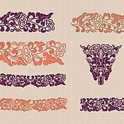 "Patterns for embroidery handmade. Livemaster - original item Machine embroidery set ""Oriental Ornament"". Handmade."