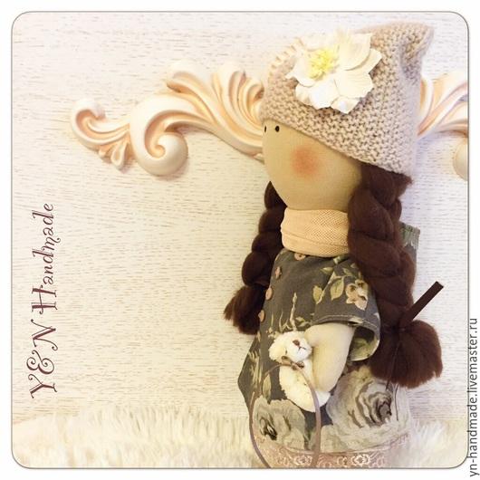 Коллекционные куклы ручной работы. Ярмарка Мастеров - ручная работа. Купить Большеножка Прованс. Handmade. Бежевый, мишка, тильда