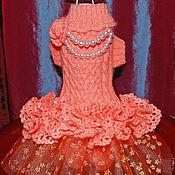 """Для домашних животных, ручной работы. Ярмарка Мастеров - ручная работа Комбинезон-платье """"Чайная роза"""". Handmade."""