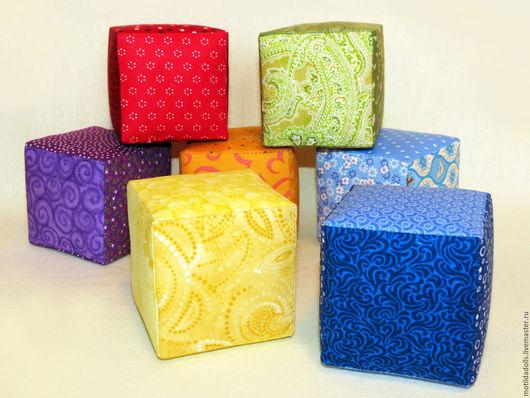 Подарки для новорожденных, ручной работы. Ярмарка Мастеров - ручная работа. Купить Мягкие кубики Моя первая радуга 0+. Handmade.