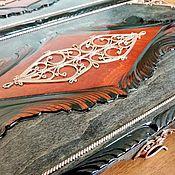 Сувениры и подарки handmade. Livemaster - original item Copy of backgammon copyright, handmade 47x47 cm.. Handmade.