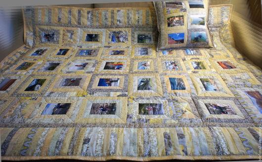 Текстиль, ковры ручной работы. Ярмарка Мастеров - ручная работа. Купить Плед для путешественников. Handmade. Золотой, лоскутный плед