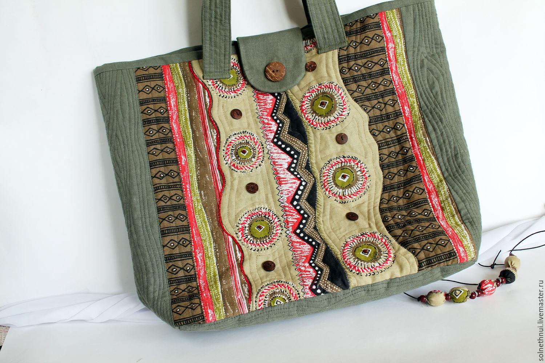 abdf1f91c5c4 Женские сумки ручной работы. Ярмарка Мастеров - ручная работа. Купить  Большая льняная сумка