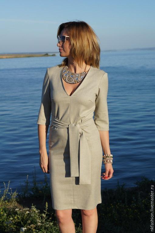 Платья ручной работы. Ярмарка Мастеров - ручная работа. Купить Платье Бизнес Леди. Handmade. Серый, шерсть