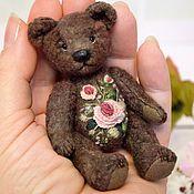 Stuffed Toys handmade. Livemaster - original item Rose miniature bear with embroidery. Handmade.