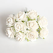Материалы для творчества ручной работы. Ярмарка Мастеров - ручная работа Кудрявые розы 2 см белые 5 штук. Handmade.