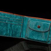 Сумки и аксессуары handmade. Livemaster - original item Genuine leather wallet with coin pocket. Handmade.